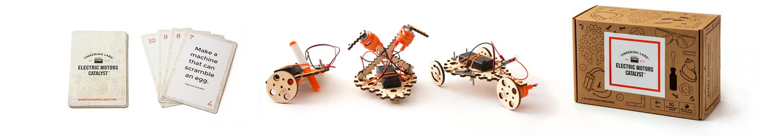 Electric Motors Catalyst Kit parts and cards