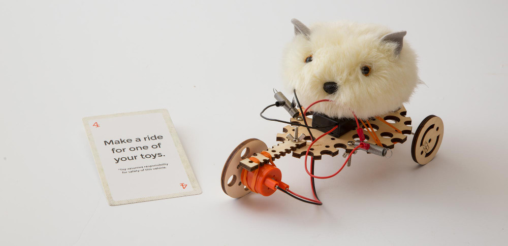 Electric Motors Catalyst STEM Kit Challenge make a ride for one of your toys