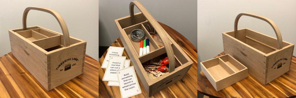 Custom made wood toolbox